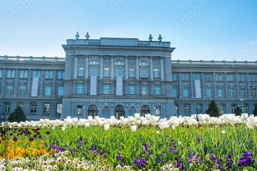 Spring in Zagreb, Croatia, Mimara museum, popular tourist travel destination - 262310690