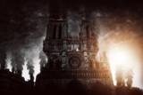 Burning Notre Dame in Paris (Composing)