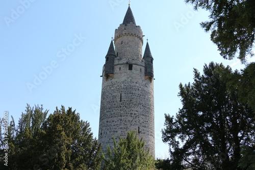 canvas print picture Blick auf den Adolfsturm auf dem Gelände der Burg Friedberg in Hessen