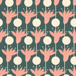 floral graphic seamless pattern. trendy background print.  - 262331827