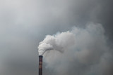 Dirty smoke from industrial chimneys or factory pipe
