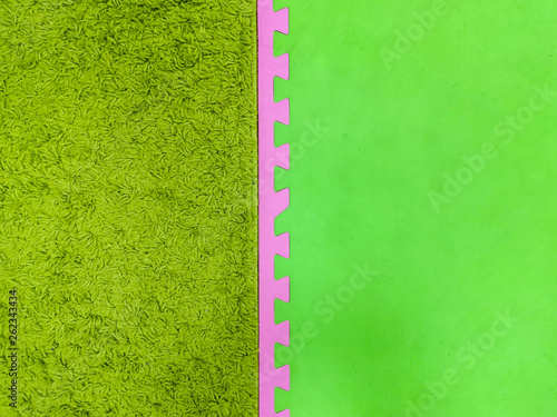 Green with a pink background, green carpet background. pink and green background. - 262343434