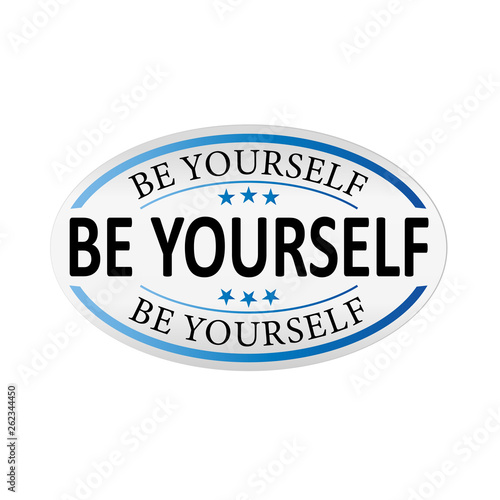 be yourself paper colorful banners Design shape Vector label tag - 262344450
