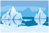 iceberg, icescape. square background