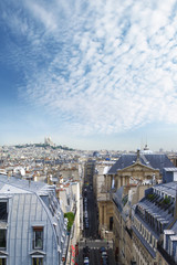 Panoramic view of Paris and Montmartre