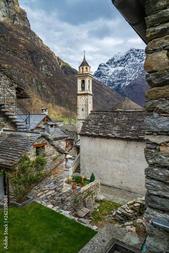 Charming Sonogno village in Switzerland - 262359684