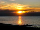 Beautiful sunrise in Italy over the sea