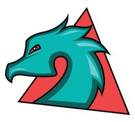 Dragon gaming logo illustration vector on white background