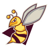 Gaming logo of a bee illustration vector on white background