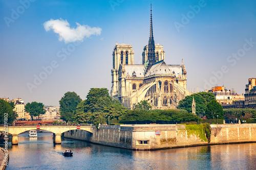 Notre Dame de Paris at spring, France