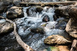 Quadro Waterfall in the nature and stone background