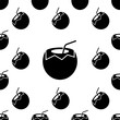 Coconut Icon Seamless Pattern, Coconut Fruit - 262421264