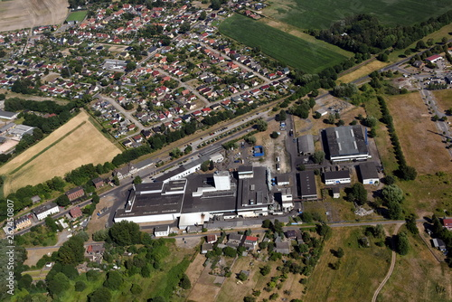 canvas print picture Gießerei und Gewerbegebiet Ueckermünde 2018