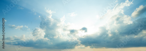 Clouds sky background. Beautiful summer sky with clouds - 262456290