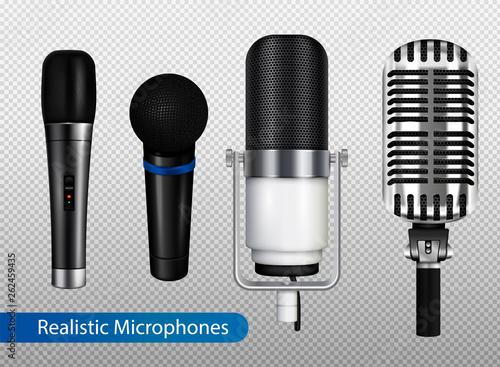 Profesional Microphones Transparent Set