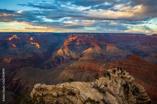 Sunset at Grand Canyon National Park, South Rim, Arizona, USA