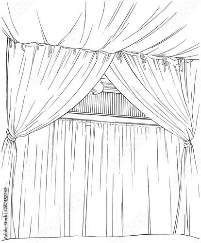 漫画風ペン画イラスト リゾートホテル - 262462232