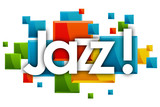 Jazz word in rectangles background
