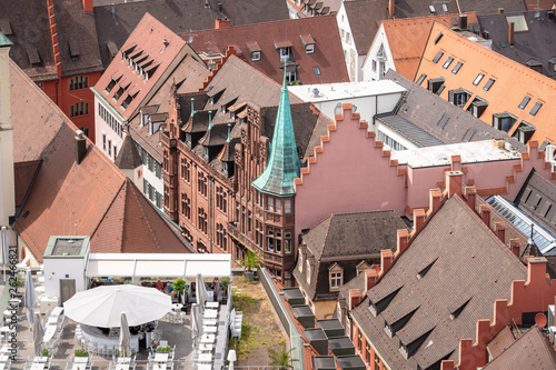an aerial view over Freiburg - 262466821