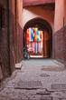 Quadro Morocco, Marakech, Archway and Alley in Medina Area