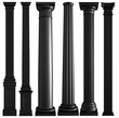 Black columns on a white background. Isolated