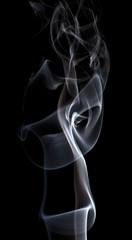 light flowing smoke isolated on black