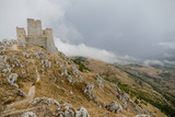Rocca Calascio old Italian castle Location film of famous film The Name of the Rose and Ladyhawke