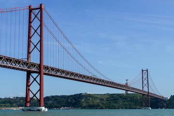 bridge in the sea, in Lisbon Capital City of Portugal