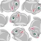 Vector illustration of the cartoon mammal chinchillas decorative pattern