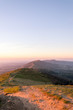 The ridge of the Malvern Hills, Worcestershire, UK, At sunrise on a winters day.
