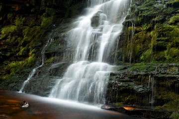 Middle Black Clough Waterfalls, Peak District