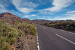 canvas print picture - Road  in Mountain on Canary Islands Tenerife. Landscape with road, mountain and sky