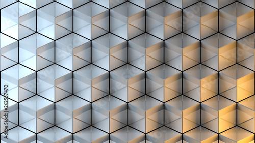 Wand aus Würfeln