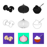 Isolated object of taste and product icon. Collection of taste and cooking stock symbol for web.