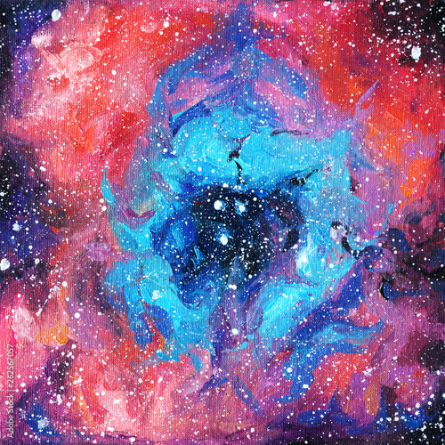 nebula. space. stars . galaxies. acrylic. constellations. starry sky © Nadin