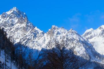 Beautiful snowy mountain landscape