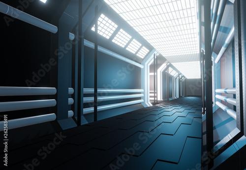 Futuristischer Sci-Fi Hintergrund © m.mphoto