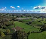 Allassac (Corrèze - France) - Vue aérienne depuis les trois villages en direction du bassin de Brive-la-Gaillarde