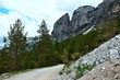 Quadro Italian Alps -view from  the cycle path in Dolomites