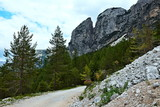 Italian Alps -view from  the cycle path in Dolomites