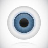 Blue eye eyeball iris vector illustration