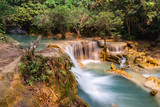 Tad Kwang Si Waterfall in summer, Located in Luang Prabang Province, Laos