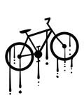 graffiti tropfen fahrrad fahren sport bike drahtesel gesund clipart design mountainbike herrenfahrrad logo