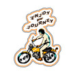 Enjoy your journey sticker