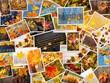 Quadro Colorful autumn collage. Autumn creative set of photos