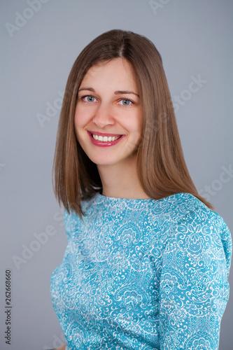 canvas print picture Portrait young beautiful brunette woman