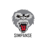 chimpanzee logo design