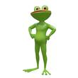 3D Stock Illustration Muscular Frog