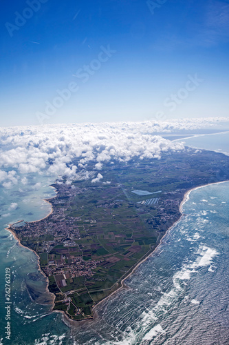 Islands of ré and Oléron from aerial view © Olivier
