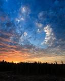 Beautiful clouds at sunrise in nature